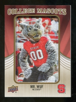2013 Upper Deck College Mascot Manufactured Patch #CM78 Mr. Wuf D