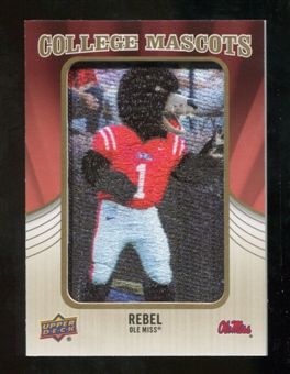 2013 Upper Deck College Mascot Manufactured Patch #CM81 Rebel Black Bear D