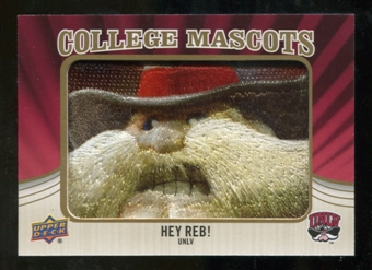2013 Upper Deck College Mascot Manufactured Patch #CM86 Hey Reb D