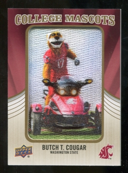 2013 Upper Deck College Mascot Manufactured Patch #CM88 Butch T. Cougar D