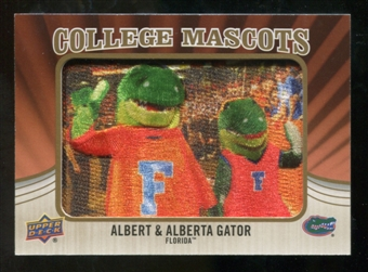 2013 Upper Deck College Mascot Manufactured Patch #CM92 Albert & Alberta Gator C