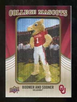 2013 Upper Deck College Mascot Manufactured Patch #CM94 Boomer and Sooner C