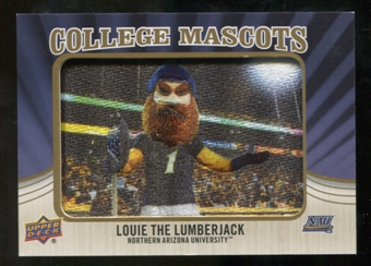 2013 Upper Deck College Mascot Manufactured Patch #CM111 Louie the Lumberjack B