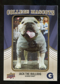 2013 Upper Deck College Mascot Manufactured Patch #CM112 Jack the Bulldog B