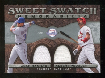2009 Upper Deck Sweet Spot Swatches Dual #HP Josh Hamilton/Albert Pujols