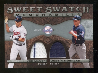 2009 Upper Deck Sweet Spot Swatches Dual #MM Joe Mauer/Justin Morneau