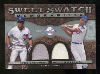 2009 Upper Deck Sweet Spot Swatches Dual #SW Ryne Sandberg/Billy Williams