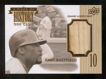 2010 Upper Deck A Piece of History 500 Home Run Club #GS Gary Sheffield Bat SP /350