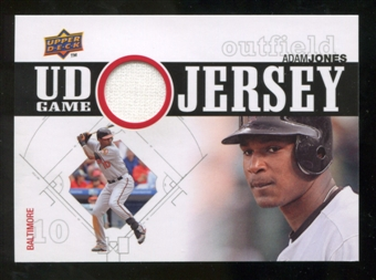 2010 Upper Deck UD Game Jersey #AJ Adam Jones