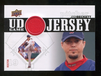 2010 Upper Deck UD Game Jersey #BE Josh Beckett