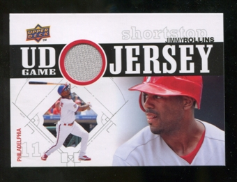 2010 Upper Deck UD Game Jersey #JR Jimmy Rollins