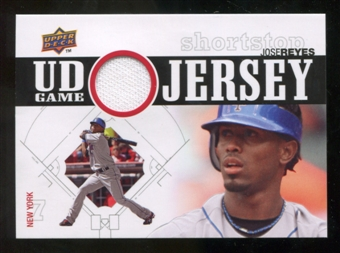 2010 Upper Deck UD Game Jersey #RE Jose Reyes