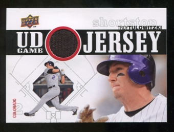 2010 Upper Deck UD Game Jersey #TT Troy Tulowitzki