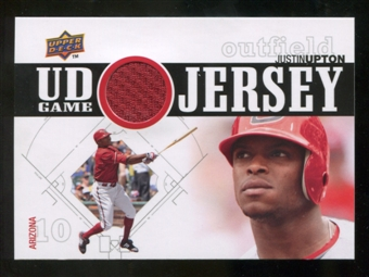 2010 Upper Deck UD Game Jersey #UP Justin Upton