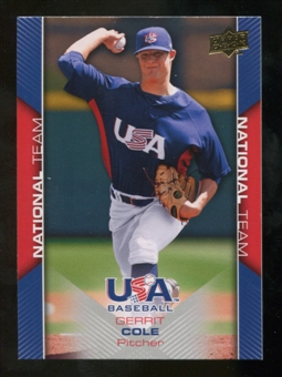 2009/10 Upper Deck USA Baseball #USA8 Gerrit Cole