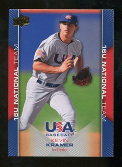 2009/10 Upper Deck USA Baseball #USA54 Kevin Kramer