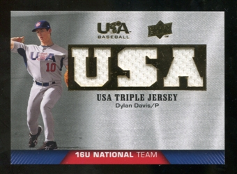 2009/10 Upper Deck USA Baseball 16U National Team Jerseys #DD Dylan Davis