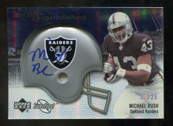 2007 Upper Deck Sweet Spot Signatures Silver #BU2 Michael Bush /25