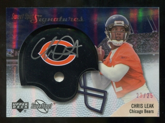 2007 Upper Deck Sweet Spot Signatures Silver #CL2 Chris Leak /25