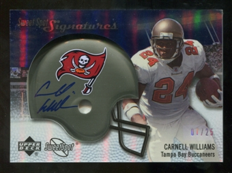 2007 Upper Deck Sweet Spot Signatures Silver 25 #CW2 Cadillac Williams Autograph /25