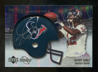 2007 Upper Deck Sweet Spot Signatures Silver #JJ2 Jacoby Jones /25