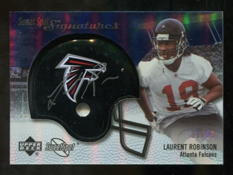 2007 Upper Deck Sweet Spot Signatures Silver #LR2 Laurent Robinson /25