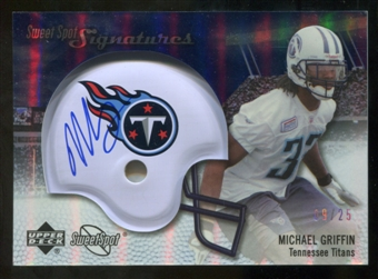 2007 Upper Deck Sweet Spot Signatures Silver #MG2 Michael Griffin /25