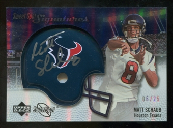 2007 Upper Deck Sweet Spot Signatures Silver #MS2 Matt Schaub /25