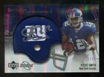 2007 Upper Deck Sweet Spot Signatures Silver #SS2 Steve Smith USC /25