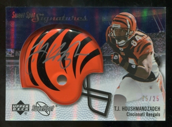 2007 Upper Deck Sweet Spot Signatures Silver #TH2 T.J. Houshmandzadeh /25