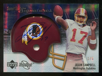 2007 Upper Deck Sweet Spot Signatures Gold #VJC Jason Campbell /5