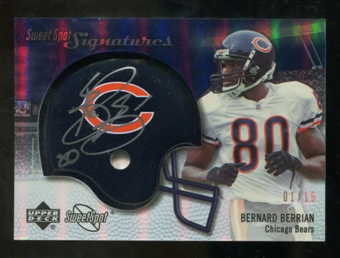 2007 Upper Deck Sweet Spot Signatures Gold 15 #VBB Bernard Berrian Autograph /15