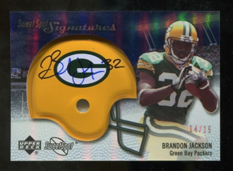 2007 Upper Deck Sweet Spot Signatures Gold #VBJ Brandon Jackson /15