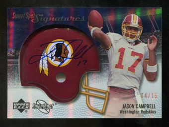 2007 Upper Deck Sweet Spot Signatures Gold 15 #VJC Jason Campbell Autograph /15