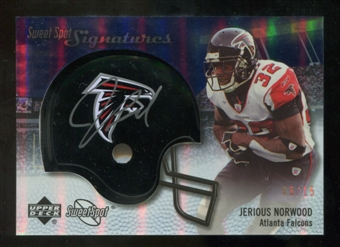 2007 Upper Deck Sweet Spot Signatures Gold 15 #VJN Jerious Norwood Autograph /15