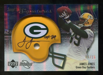 2007 Upper Deck Sweet Spot Signatures Gold 15 #VJO James Jones Autograph /15