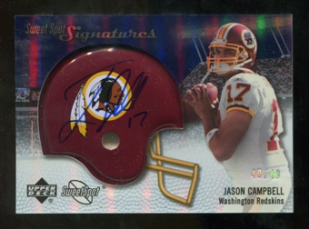 2007 Upper Deck Sweet Spot Signatures Silver #JC2 Jason Campbell /49