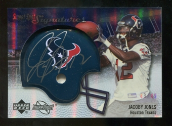 2007 Upper Deck Sweet Spot Signatures Silver 49 #JJ2 Jacoby Jones Autograph /49