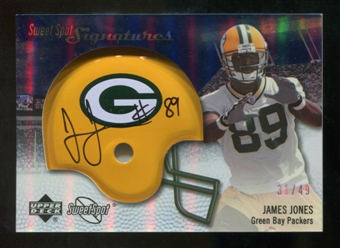 2007 Upper Deck Sweet Spot Signatures Silver 49 #JO2 James Jones Autograph /49
