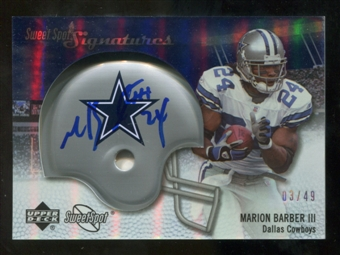 2007 Upper Deck Sweet Spot Signatures Silver #MB2 Marion Barber /49