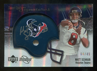 2007 Upper Deck Sweet Spot Signatures Silver #MS2 Matt Schaub /49