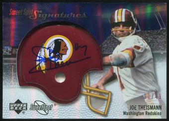 2007 Upper Deck Sweet Spot Signatures Silver #TN2 Joe Theismann 1/49
