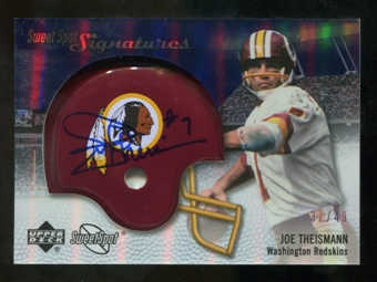 2007 Upper Deck Sweet Spot Signatures Silver 49 #TN2 Joe Theismann Autograph /49