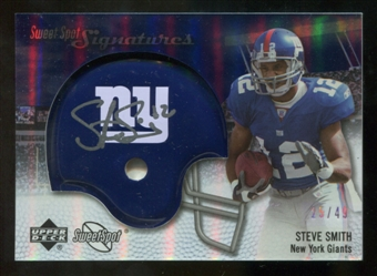2007 Upper Deck Sweet Spot Signatures Silver 49 #SS2 Steve Smith USC Autograph /49