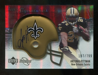 2007 Upper Deck Sweet Spot #116 Antonio Pittman RC Autograph /799