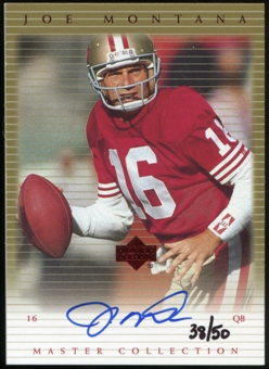2000 Upper Deck Montana Master Collection Autographs #JMS5 Joe Montana 38/50