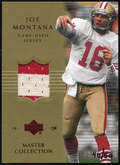 2000 Upper Deck Montana Master Collection Game Jerseys #JM5 Joe Montana 40/50