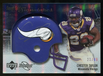 2007 Upper Deck Sweet Spot Signatures Silver #CT2 Chester Taylor /49