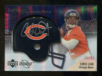 2007 Upper Deck Sweet Spot Signatures Silver #CL2 Chris Leak /49