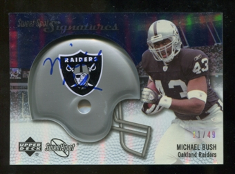 2007 Upper Deck Sweet Spot Signatures Silver 49 #BU2 Michael Bush Autograph /49